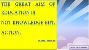 education quote herbert spencer