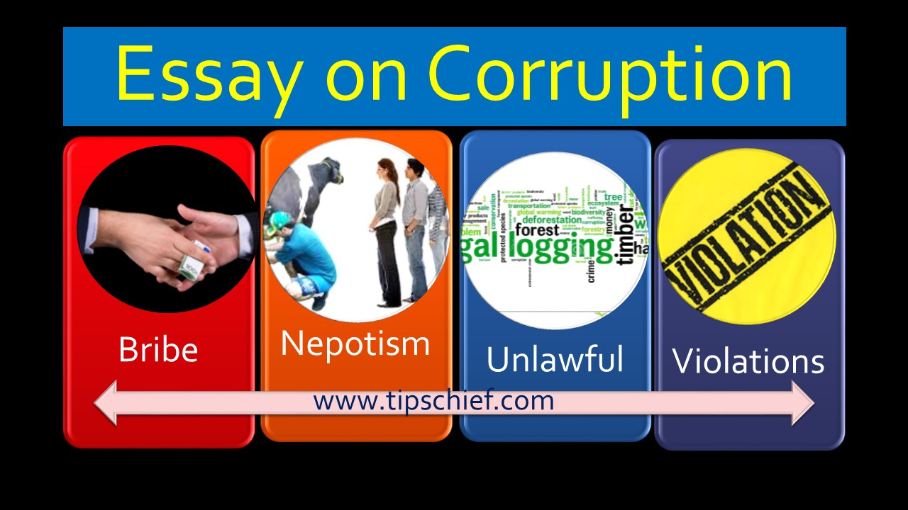 corruption essay in english short