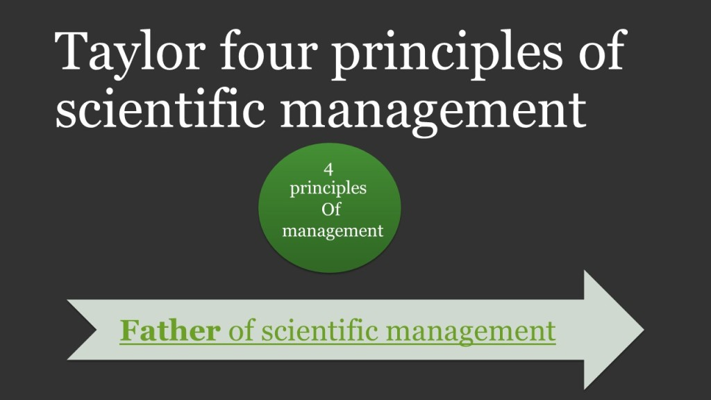 taylor s scientific management principles in current Scientific management theory and the ford motor principles of scientific management after just 16 years of implementing taylor's scientific approach he.