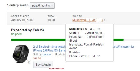 order place from pakistan on amazon