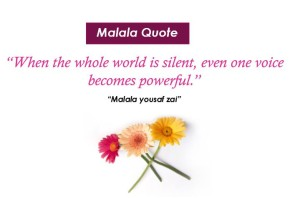 Malala Yousaf Zai educational quotes.