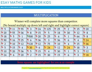 easy maths multiplication games for kids