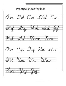 handwriting sheets for kids