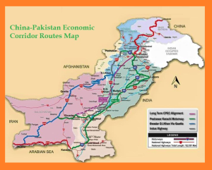 China Pakistan Economic Corridor Route Map Final