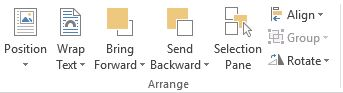 how to arrange object in MS word 2013 documents