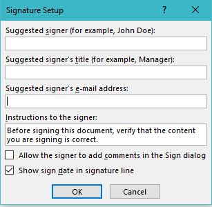 how to insert signature in word documents