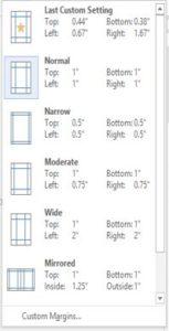 page setup word 2013 1