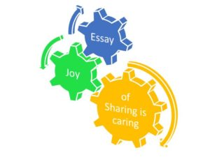 Essay on joy of sharing is caring
