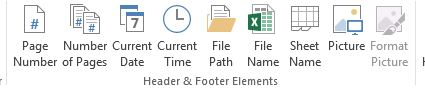 how to insert header and footer in MS excel