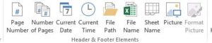 How to insert header and footer in excel