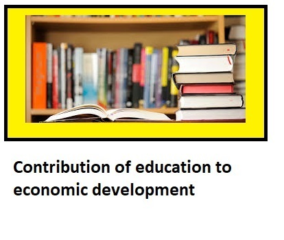 contribution of education to economic development