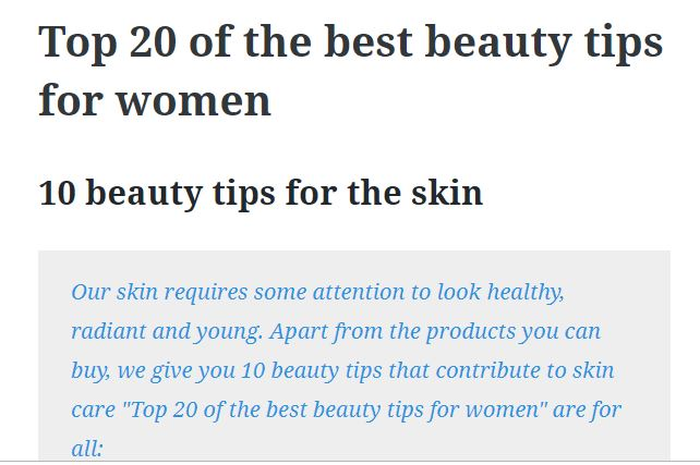 Top 20 of the best beauty tips for women